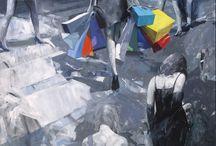 Mario schifano tano festa franco angeli giostra fioroni emilio leofreddi antonio tamburro opere  collezione privata / pop art