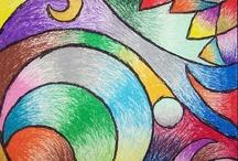 tableaux crayons de couleur