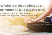 Yoga en pleine nature / Sessions d'Acu-Yoga Venez découvrir  le vrai sens du mot « zen » par  le biais du yoga où détente, respiration, posture et méditation feront office d'outils pour y arriver. En plus de maintenir la bonne forme, vous y gagnerez souplesse, tonus et équilibre physique et psychique. Contactez-nous pour les détails 450 226-2442