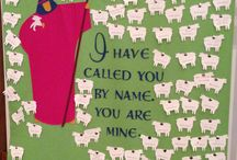 baptismal quilts / Wall hanging quilt with names of children baptised by year