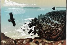 Ian Phillips / The illustrator Ian Phillips is represented by NB Illustration. Ian works using traditional linoprint. He lives in Wales and draws on the Welsh countryside as inspiration for his beautiful landscape images. You can see more of his work at http://nbillustration.co.uk/ian-phillips