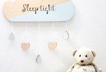 Kinderkamer & babykamerdecoratie van hout / Houten handgemaakte kinderkamer en babykamer decoratie