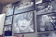 Main dinning area wall / Photo's in frames of family & friends