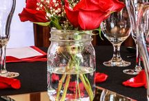 Custom Centerpieces and Place Settings at Newnan Country Club