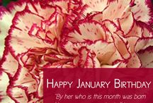 Happy January Birthday / Happy January Birthday from Freytag's Florist! Here's a tip for anyone in search of a birthday gift idea this month; January's birthstone is Garnet. The birth month color is also garnet. And the birth month Flower of January is the Carnation.