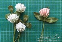 tutorials: flowers / Miniature tutorials for 1:12th scale flowers. I am including some tutorials for full size projects because the techniques are often transferable