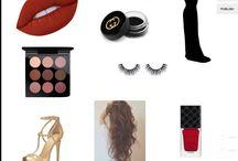 Gymnasiearbete styling 2 skönhets/afton makeup / Afton makeup Modell: Johanna Salö Stylist: Viktorija Martinova Bergman