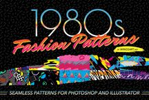 1980's Style Design Resources / Time to take your design work to the next level with this collection of 1980s design resources. With colors so wild they should come with a heath warning, these designs perfectly capture the retro aesthetic for a brand new synth-wave generation! What will you find on this board? Patterns, textures, graphics, illustrations, fonts, vectors, and much more.