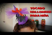 tocado halloween niña