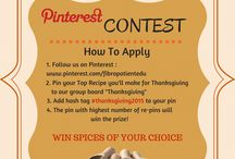 Thanksgiving / Welcome To Our Thanksgiving Contest Group Board! Pin your favorite recipe you'll make for Thanksgiving, add hashtag #Thanksgiving2015...The pin with highest number of re-pins will win spices of your selection! Contest ends on December 1, 2015.  THANK YOU ALL, THE CONTEST IS OVER!!! WE WILL ANNOUNCE THE WINNER SOON! THE WINNER IS https://www.pinterest.com/pin/531213718527307183/ - PLEASE CONTACT US ON healthactivist@gmail.com AND SEND YOUR CONTACT DETAILS!