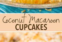 coconut macaroon cupcakes