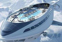 Cruise ships & plane