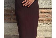 Skirt - Handmade Skirt - Pencil Skirt - Midi Skirt - Claret Red Skirt - Slit Skirt - Lining Skirt