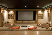 Media room / Lounge with screen