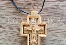 Wooden Crosses from Mount Athos