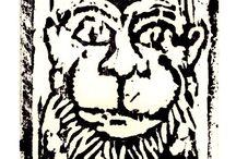 Hanuman - Woodblock Printing