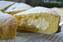 Torta con crema ricotta e mascarpone