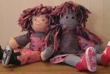Rag dolls and soft toys