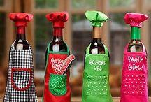 delantales botellas