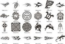 Maori symbols tattoo sleeve