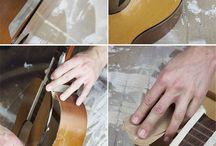 polička kytara
