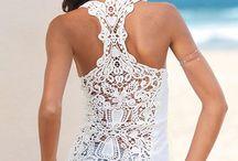 Lace/fringe fashion