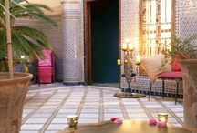 Moroccan fountains and courtyards