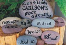 Engraved rocks