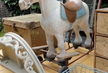 rocking horses/wooden horses
