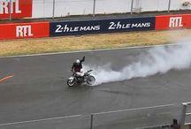 Stunts, Burnouts, Drifts & Wheelies - FRANCE / Stunts, Burnouts, Drifts & Wheelies Bikes and Cars show from MotoGP, 24h Le Mans and other motor sport events