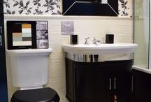 Small Bathrooms / Making the most of your bathroom space.  Small bathrooms can be beautiful as well as functional.