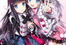 amigas anime