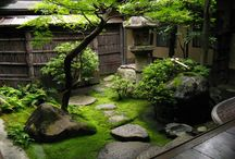 Japanese Courtyard Gardens / If one is to be intimate with one's garden then it must be close by.