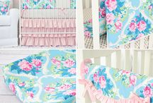 Aqua Floral Nursery Inspiration / Aqua and floral is the perfect combination for a sweet and girly nursery that's not overly pink.  Here you'll find all the inspiration you need to create the aqua floral nursery of your dreams! / by Caden Lane