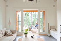 white painted  rooms
