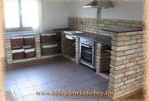 épített konyha
