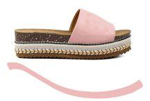 YASMIN 21,99 || Γυναικείες Flatform Παντόφλες Suede Boho Ροζ