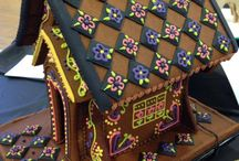 Gingerbread House for Fall / gingerbread gingerbread house cookie house thanksgiving