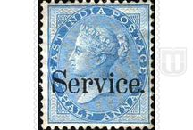 Collection of British India Official Stamps / Information about the stamps issued during the British India Period