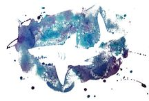 Fish & Sharks-Ocean Theme