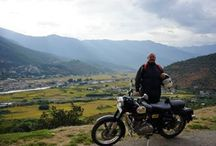 Bhutan Himalayan Motorcycle Expedition / Straight roads hardly exist, and we've counted an average of 10 curves per kilometer. The roads are quite empty, and the capital city of Thimphu doesn't even have a traffic light! Our motorcycle tour of Bhutan takes us along small mountain roads in varying conditions, and the ride never gets boring – beautiful landscapes soon cure us of the urge to ride hard.