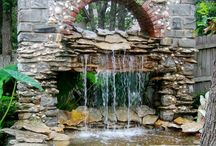 Backyard ideas. / Inspiration for backyard projects or water features.