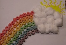 Crafts - Cereal, Marshmallows & Yarn / by Lucille Hall