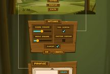 Rustic (wood, stone, etc) UI