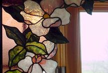 Virág sarok ólomüveg