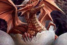 Dragons and Hatchlings / Mystical Reptiles / by Karen Reminga