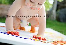 1st birthday with paint / by Keshia White Photography