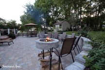 Fireplaces & Fire Pits & Cook Stations / Want to take back the night, add a Fire Pit or Fireplace to your home and enjoy your evenings warmly.