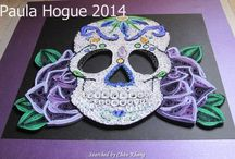 Pictures- Quilled skulls