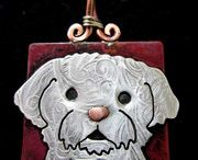 Custom Cameo Pendants or Keychains of your pet (BFF) / Custom Cameo Pendants or Keychains of your pet (BFF). Stacey Lamothe has been custom creating cameos from images for satisfied customers for several years. She can create a copper & sterling pendant, keychain, ornament, fan pull,  of your beloved dog, cat, horse, chicken, llama, parrot, or any animal you desire from your image.  #Custom pet art #Custom animal art #Custom cameo